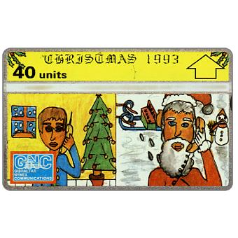 Phonecard for sale: Christmas '93, 40 units