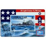 The Phonecard Shop: Warships 1996, USS Philadelphia, 5 units