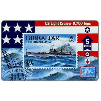 Phonecard for sale: Warships 1996, USS Philadelphia, 5 units