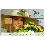 The Phonecard Shop: Girl with flowers, 50 units