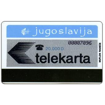 The Phonecard Shop: Yugoslavia, Federativna Social. Rep. - First public issue, 20.000 D
