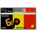 The Phonecard Shop: Belgium, Expo Sevilla 92, 20 units