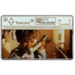 The Phonecard Shop: Belgium, Child at phone, 20 units