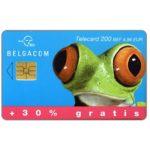 The Phonecard Shop: Belgium, +30% gratis, frog, 200 BEF