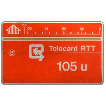 The Phonecard Shop: Definitive, no notch, 1,5 mm band, code 4B2, 105 units