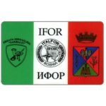 The Phonecard Shop: A-Comms - Card used by Italian military peace force during the war, L. 50.000