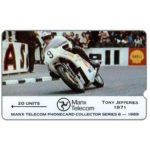 The Phonecard Shop: TT Races 1989 - Tony Jeffries, deep notch, 20 units