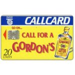 The Phonecard Shop: Gordon's London Dry Gin, 20 units