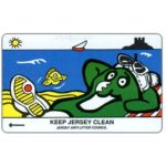 The Phonecard Shop: Jersey, Keep Jersey Clean - Sunbathing, 40 units