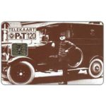 The Phonecard Shop: Luxembourg, Old photo of postal van, code 5 digits, chip SC-4, 120 units