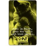 The Phonecard Shop: Luxembourg, EMS, big teddy-bear, 50 units