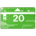 The Phonecard Shop: Netherlands, Definitive, 6th series, 012A, 20 units