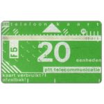 The Phonecard Shop: Netherlands, Definitive, 3rd series, no notch, 3mm band, 802B, 20 units