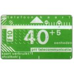 The Phonecard Shop: Netherlands, Definitive, 3rd series, no notch, 3mm band, 804D, 40+5 units