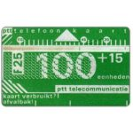 The Phonecard Shop: Netherlands, Definitive, 3rd series, no notch, 3mm band, 802D, 100+15 units