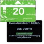The Phonecard Shop: Netherlands, Central Beheer, 20 units