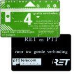 The Phonecard Shop: Netherlands, RET en PTT Telecom, 4 units