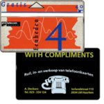 The Phonecard Shop: Netherlands, Aad Deckers, 4 units