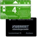 The Phonecard Shop: Netherlands, Werknet Arnhem Looierstraat 15, 4 units