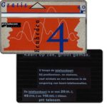 "The Phonecard Shop: Definitive, 7th series, ""Kaart op zak"" on back, complimentary 4 units"