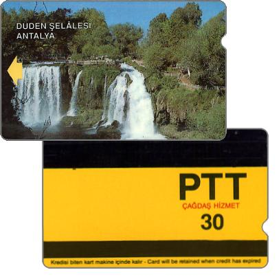 The Phonecard Shop: Turkey, Düden Selalesi Antalya, 15 mm band, 30 units