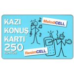 The Phonecard Shop: Turkey, Turkcell - Hazir kart, 250 kontor