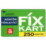The Phonecard Shop: TelSim - Fix kart, 250 kontor