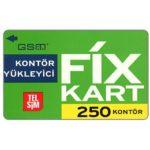 The Phonecard Shop: Turkey, TelSim - Fix kart, 250 kontor