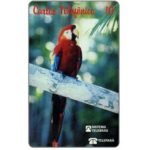 The Phonecard Shop: Brazil, Teleparà - Red parrot, 10 units