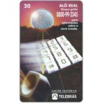 The Phonecard Shop: Sistema Telebras - Alo Real, 20 units