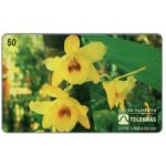 The Phonecard Shop: Brazil, Sistema Telebras - Orchid Dendrobium Calciolaria, 50 units