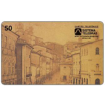 The Phonecard Shop: Brazil, Sistema Telebras - Old photo, Baixa dos Sapateiros, 50 units