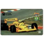 The Phonecard Shop: Telesp - Ayrton Senna 3/12, 1987 Lotus Camel, 20 units