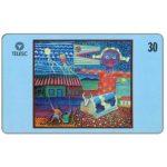 The Phonecard Shop: Brazil, Telesc - Painting by Tercio da Gama, 30 units