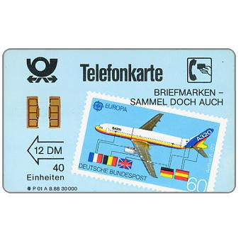 The Phonecard Shop: Airbus, Europa stamp, 7-digits code, 12 DM