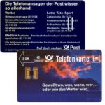 The Phonecard Shop: Germany, Gewitterhimmel, tight grooves, 12 DM