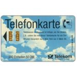 The Phonecard Shop: Wolkenhimmel, International Codes, 50 DM
