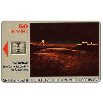 The Phonecard Shop: First issue, Bratislava by night, 01/93, chip SC-4, without code, 50 units