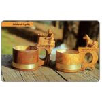 The Phonecard Shop: Carvet Wooden Cups, 50 units