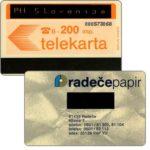 The Phonecard Shop: Slovenia, Provisional yugoslavian card overprinted 'Ptt Slovenija', 200 units