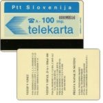 "The Phonecard Shop: Slovenia, Vstop V Vinet, back ""Telekarta"", 100 units"