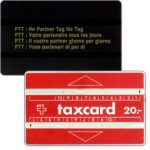 """The Phonecard Shop: Switzerland, Definitive, long dash after """"20"""", 20 units"""