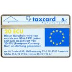 The Phonecard Shop: Switzerland, Von Ah Treuhand AG - 20 ECU, 004E, 5 units