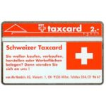 The Phonecard Shop: Switzerland, Von Ah Treuhand AG - Schweizer Taxcard, 004E, 2 units