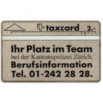 The Phonecard Shop: Switzerland, Kantonspolizei Zürich, 105F, 2 units