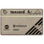 The Phonecard Shop: Switzerland, Messerli AG - Minolta / Hitachi, 106D, 4 units