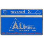 The Phonecard Shop: Switzerland, Alpina Phil Service AG, 106L, 2 units