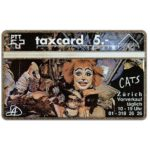 The Phonecard Shop: Switzerland, Musical Cats 1 (Serie 1), 109E, 5 units