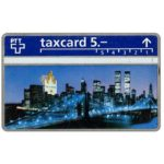 The Phonecard Shop: Switzerland, Philip Morris, New York skyline with Twin Towers, 208L, 5 units