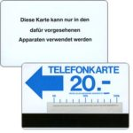 The Phonecard Shop: Trial card Zurich, blue + silver stripe, 20 units